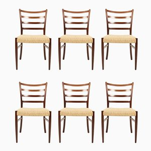 Danish Rosewood Dining Chairs by Johannes Andersen for Schou Andersen, 1960s, Set of 6