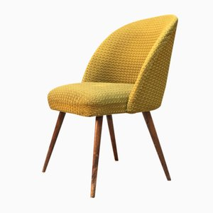 Mid-Century Danish Beech and Green Fabric Lounge Chair, 1960s