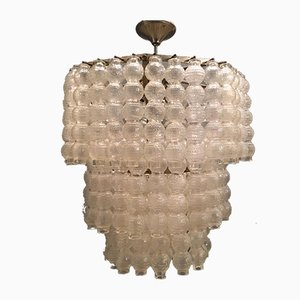 Large Murano Glass Bubble Chandelier by Paolo Venini for Murano, 1970s
