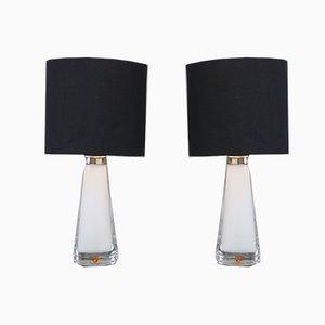 Lampes de Bureau par Carl Fagerlund pour Orrefors, années 60, Set de 2