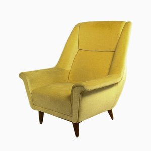Danish Velour Armchair, 1970s