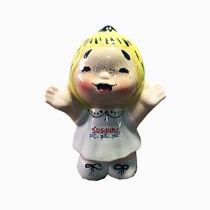 Vintage Italian Ceramic Susanna Advertising Figurine from Nova Ceramiche, 1990s