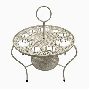 French Perforated Metal Bar Table, 1950s