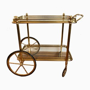Golden Brass and Glass Trolley, 1950s