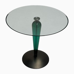 Italian Glass and Steel Side Table, 1990s