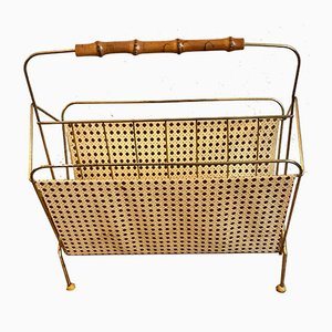 Mid-Century Golden Magazine Rack
