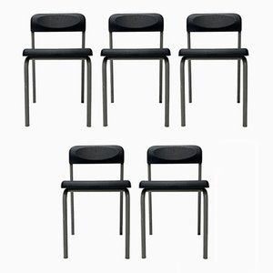 Italian Model Greek Dining Chairs by Ettore Sottsass for Bieffeplast, 1980s, Set of 5