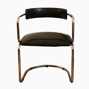 Chrome and Leather Cantilever Desk Chair, 1960s