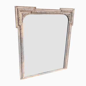 Antique English Carved Wood and Gesso Mirror