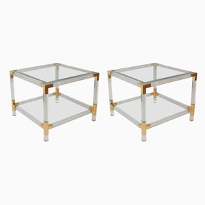 Vintage Hollywood Regency Side Tables, Set of 2