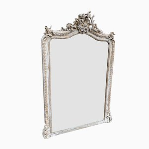 Antique French Carved Wood and Gesso Mirror
