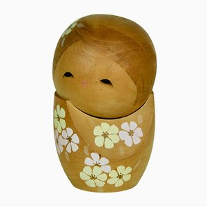 Sculpture Kokeshi par Ryoka Aoki, années 70