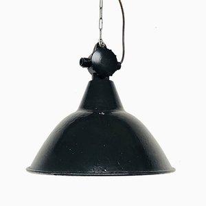 Industrielle emaillierte Vintage Deckenlampe