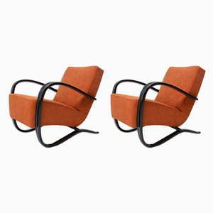Model H-269 Armchairs by Jindřich Halabala for UP Závody, 1940s, Set of 2