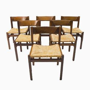 Französische Esszimmerstühle, 1960er, 6er Set