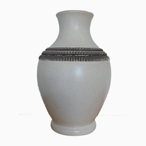 Art Deco French Ceramic Vase by Pol Chambost, 1930s