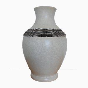 Vaso Art Deco in ceramica di Pol Chambost, Francia, anni '30