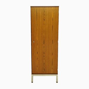 Mid-Century Rosewood Veneer and Chrome Cabinet