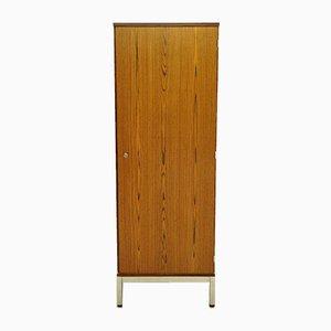 Mid-Century Rosewood Veneer and Chrome Cabinet