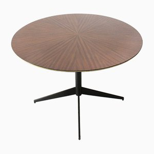 Italian Teak Circular Dining Table by Vittorio Nobili for Fratelli Tagliabue, 1950s