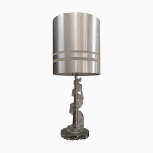 Lámpara de mesa en espiral de cristal de Murano de Angelo Brotto para Esperia, años 70