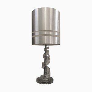 Lampe de Bureau en Verre de Murano Transparent par Angelo Brotto pour Esperia, 1970s