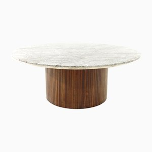 Wood and Marble Coffee Table by Umberto Brandigi for Saporiti Italia, 1960s