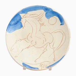 Mid-Century Italian Decorative Plate by Giovanni Poggi for Ceramiche San Giorgio