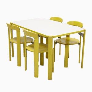Juego de mesa de comedor y sillas suizas de Bruno Rey para Kusch + Co, años 70. Juego de 5