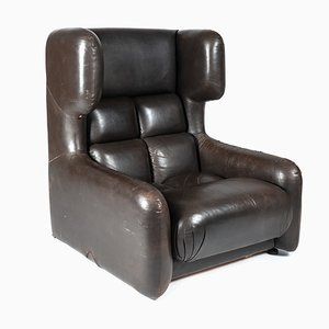 Leather Club Chair by Zbyněk Hřívnáč, 1980s