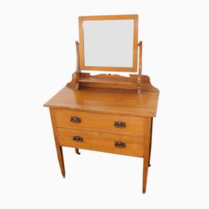 Vintage Satin Walnut Dressing Table, 1920s
