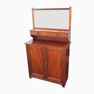 Antikes Sideboard aus Mahagoni mit Spiegel, 1910er