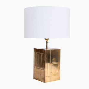 Brass Table Lamp by Jean Blazy , 1970s