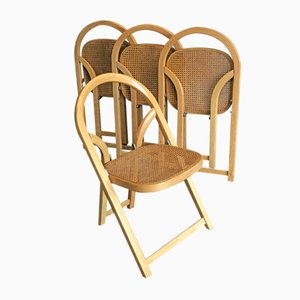 Model Arca Folding Chairs by Gigi Sabadin for Crassevig, 1970s, Set of 4