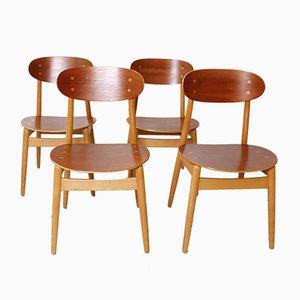Chaises de Salle à Manger Modèle Eva par Sven Erik Fryklund pour Hagafors, 1960s, Set de 4