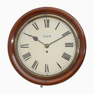 Antike viktorianische Uhr aus Mahagoni