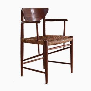 Modell 317 Schreibtischstuhl von Peter Hvidt & Orla Mølgaard-Nielsen für Søborg Møbelfabrik, 1950er