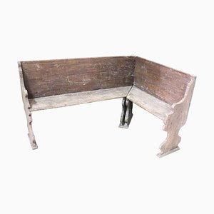 Antique Walnut Corner Bench