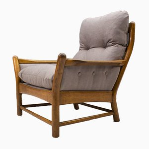Mid-Century Armlehnstuhl aus Holz, 1960er