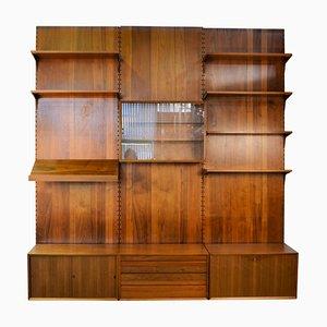 Mobiletto Mid-Century di Poul Cadovius per Cado, Danimarca, anni '60, set di 14