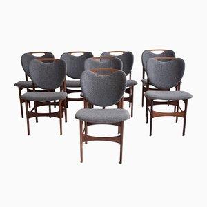 Esszimmerstühle aus Teak von Arne Hovmand-Olsen, 1950er, 10er Set