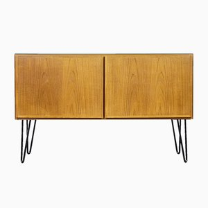 Danish Teak and Glass Sideboard from Omann Jun, 1970s