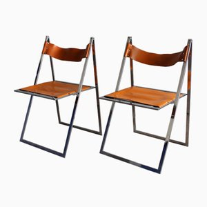 Vintage Folding Chairs by Werksentwurf for Lübke, Set of 2