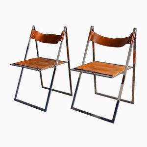 Vintage Folding Chairs by Werksentwurf for Lübke, Set of 2