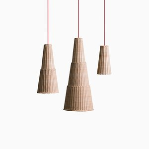 Seia Pendant Lamps by Maurizio Bernabei for Bottega Intreccio, Set of 3