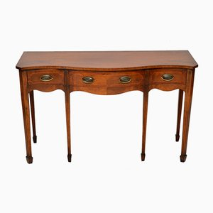 Vintage Inlaid Mahogany Console Table, 1930s