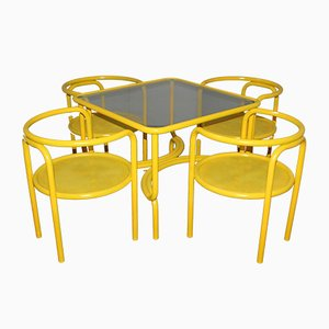 Locus Solus Chairs and Table Set by Gae Aulenti for Poltronova, 1960s