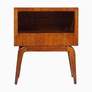 Comodino Mid-Century in legno di ciliegio, anni '40