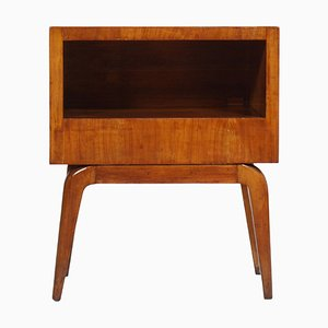 Mid-Century Cherry Wood Nightstand, 1940s