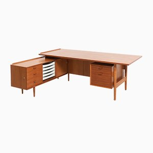 Vintage Teak Desk by Arne Vodder for Sibast, 1950s